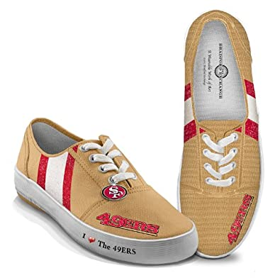 Ladies Canvas Shoes: I Love The 49ers Ladies Shoes by The Bradford Exchange by Bradford Exchange