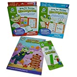 Leap Frog 4 Piece Kindergarten Learning Bundle: Math & Reading Practice Packs, Workbook, And Pencil & Eraser Pack