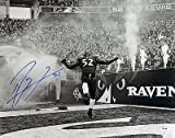 Ray Lewis Signed Photo - 16X20 Metallic Dance From Last Game ITP - PSA/DNA Certified - Autographed NFL Photos