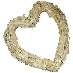 FloraCraft Straw Hearts, 12-Inch Straw Heart