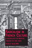 img - for Radicalism in French Culture: A Sociology of French Theory in the 1960s (Public Intellectuals and the Sociology of Knowledge) book / textbook / text book