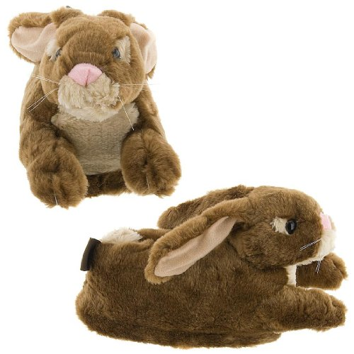 Cheap Brown Bunny Slippers for Kids, Women and Men (B002D4C5CC)