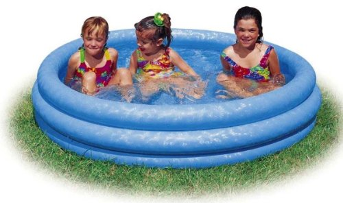 "Kiddie Pool - Intex - Inflatable Crystal Blue Swimming Pool For Children (45""x10"")"