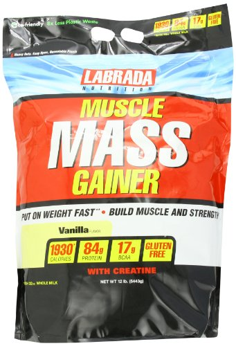 Labrada Nutrition Muscle Mass Gainer - 12 Lbs (Vanilla)