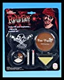 Halloween Pirate 7 Piece Make Up Kit Set - Eye Patch - Face Crayon - Applicator - Spong. Complete Pirate Makeup Kit.