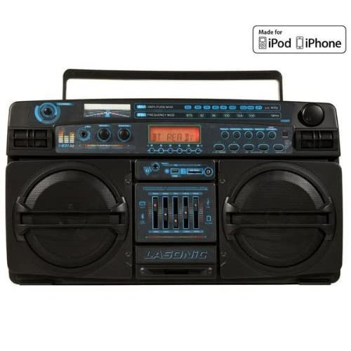Lasonic i-931BT Portable Ghetto Blaster Boom Box Stereo with Built-In Bluetooth