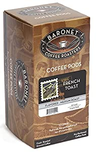 Baronet Coffee French Toast Medium Roast, 18-Count Coffee Pods (Pack of 3)