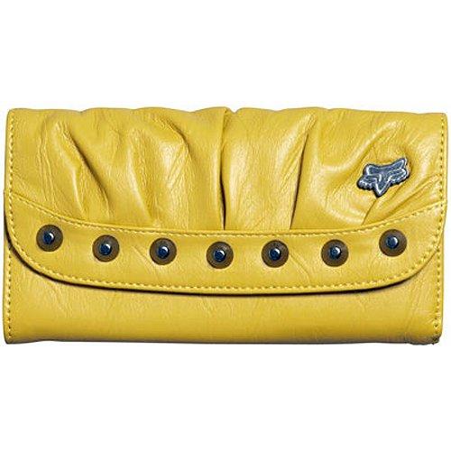 Fox Racing Riveting Girls Checkbook Casual Wallets - Color: Blazing Yellow