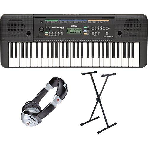 Yamaha-PSR-E253-Keyboard-Set-Incluye-soporte-para-teclado-y-auriculares-61-teclas-AWM-Stereo-Sampling-Ton-produccin-32-de-stimmige-Polifona-372-Sounds-13-Drum-Kits-incluye-adaptador-de-red-y-ordenador