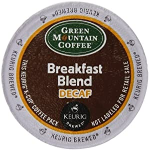 Green Mountain Coffee K-Cup Portion Pack for Keurig K-Cup Brewers, Breakfast Blend Decaf , 192 Count
