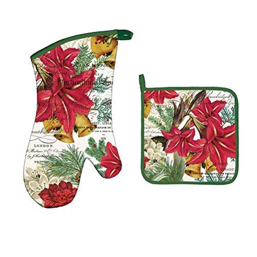 Michel Design Works Bundle 2 Items: Joyous Christmas Oven