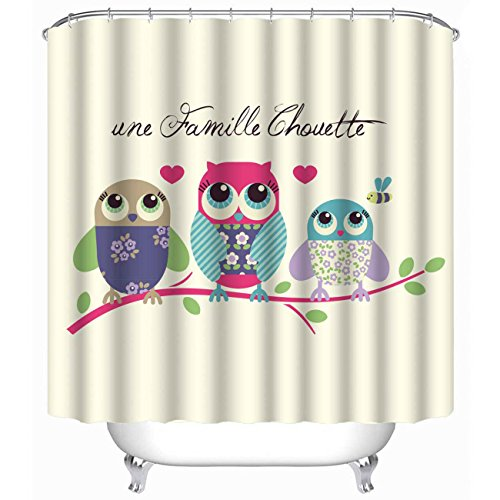 [iPrint Brand Personalization Bathroom Mildew-Resistant Antibacterial Waterproof Polyester Shower Curtains,Stylish,Decorative,Unique,Cool,Fun,Funky(Size 72