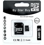 Memory Buggle Carte mémoire Micro SD SDHC Classe 10 64 Go