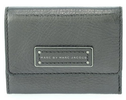 Marc By Marc Jacobs Marc Jacobs Too Hot To Handle Metallic Billfold Wallet in Gunmetal