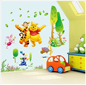 New Wall D cor Winnie The Pooh Tigger Children Nursery Kids Room Removable Peel