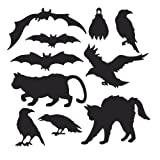 Halloween Silhouettes Party Accessory (1 count) (10 Pkg)