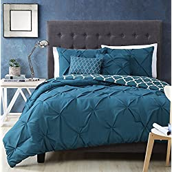 Avondale Manor Madrid 5 Piece Comforter Set, Queen, Teal