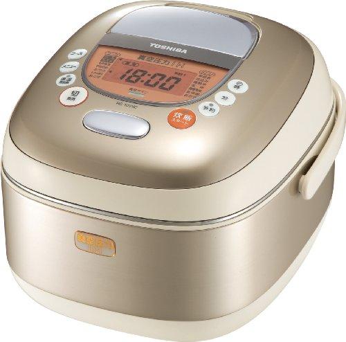 TOSHIBA 1.0L真空圧力IH保温釜 真空圧力炊き シャンパンゴールド RC-10VXC(N)