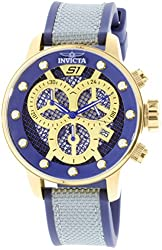 Invicta 19626 Men's S1 Rally Chronograph Blue & Gold Dial Quartz Watch