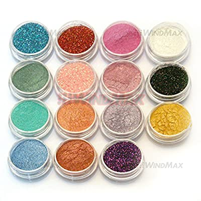 Amazing Gift! USPS Shipping! 15 Cold Smoked Metals Color Glitter Shimmer Pearl Loose Eyeshadow Pigments Mineral Eye Shadow Dust Powder Makeup Party Cosmetic Set #E