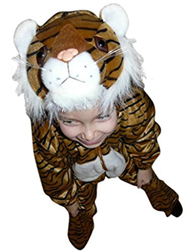 [Fantasy World Boys/Girls Tiger Halloween Costume, Size 7, F14] (Cute Tiger Costumes Women)