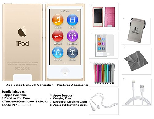 apple-ipod-nano-16gb-gold-extra-accessories-7th-generation-latest-model-released-july-2015