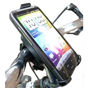 Bike, Bicycle, Cycle Handlebar Mount with HTC Desire HD Secure Dedicated Cradle Holder