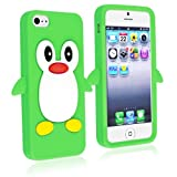 eForCity Cute Cartoon Green Penguin Silicone Gel Case compatible with Apple® iPhone® 5 / 5S