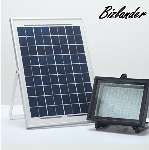 BIZLANDER Solar Light - 10W 108 LED 1109 Lumens, 10 hours up time, IP65, Commercial Grade Automatically work From Dusk to Dawn, Perfect for your Sign, Billboard (Commercial Solar Lights compare prices)