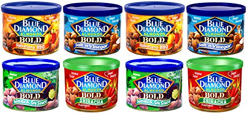 Blue Diamond Almonds VARIETY BOLD FLAVORS 6-Ounce Can (Pack of 8 Cans) (Blue Diamond Almonds Chili Lime compare prices)