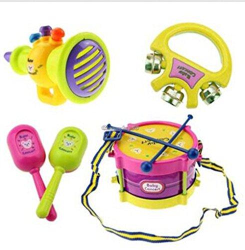 ZEARO-5pcs-Kids-Rolle-Musikinstrumente-Band-Drum-Kit-Kinder-Spielzeug-Geschenk-Set