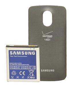 Samsung ETC-I515BBGSTA Verizon Galaxy Nexus Extended Battery Bundle - Retail Packaging - Black
