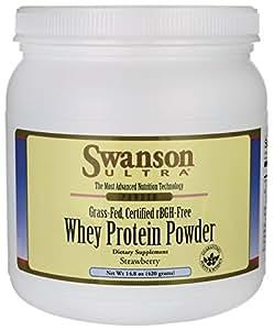 Whey Protein Powder Strawberry 14.8 oz (420 grams) Pwdr