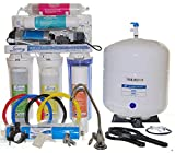 iSpring RCC7P-AK 75Gpd 6-Stage Reverse Osmosis Alkaline PH+ Water Filter System with Pump 110V 220V
