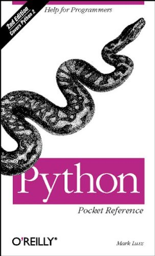 Python Pocket Reference, 2nd Edition