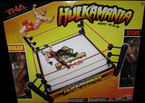 Buy Low Price Jakks Pacific TNA Wrestling Hulkamania Playset with Articulated Hulk Hogan Sting Action Figures (B004E5UOE4)