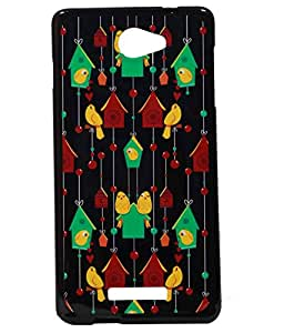 Bird's Home Exclusive Rubberised Back Case Cover For Panasonic P55