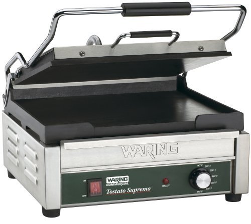 Waring Commercial Wfg250 120-Volt Italian-Style Flat Grill, Large