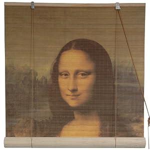 "Di Vinci Renaissance Art Print Shades - 6 ft. Mona Lisa Window Bamboo Blinds - Choose 24"", 36"", 48"",60"", or 72"" Widths from OrientalFurniture"