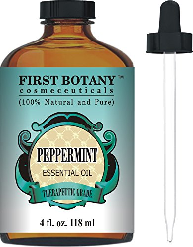 Peppermint Essential Oil 4 fl.oz - 100% Pure & Natural Mentha Piperita Therapeutic Grade Dropper Included- Peppermint Oil is Great for Aromatherapy, Bad Breath & Muscle Relief (Lavender Essential Oil 16 Oz compare prices)