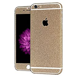 Heartly Sparking Bling Glitter Crystal Diamond Protective Film Whole Body Phone Skin Sticker For Apple iPhone 6 Plus / 6S Plus 5.5 Inch - Mobile Gold