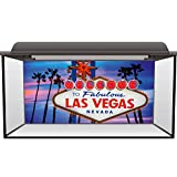 Aquarium Fish Tank Background Static Cling - Las Vegas Sign City USA Cool #0006 (90cm x 45cm)