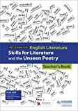 img - for WJEC Eduqas GCSE English Literature Skills for Literature and the Unseen Poetry Teacher's Book book / textbook / text book