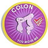 Colon Lapel Pin You Move Me I Heart Guts