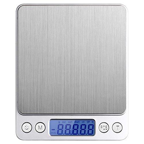 Etekcity 0.01oz 2000g Digital Pocket Kitchen Jewelry Scale Stainless Steel