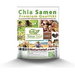Chia Samen Naturtotal im Frischhaltebeutel, 1000g