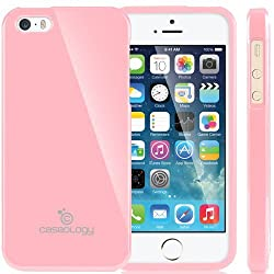 Mercury Slim Fit Flexible TPU Case for Apple iPhone 5-2012 Model Fits Verizon AT&T Sprint All Carriers-Light Pink