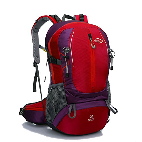 Diamond Candy Zaino da Trekking Outdoor Donna e Uomo con Protezione Impermeabile per alpinismo arrampicata equitazione ad Alta Capacitš€ borsa da viaggio,Multifunzione, 35 litri Rosso