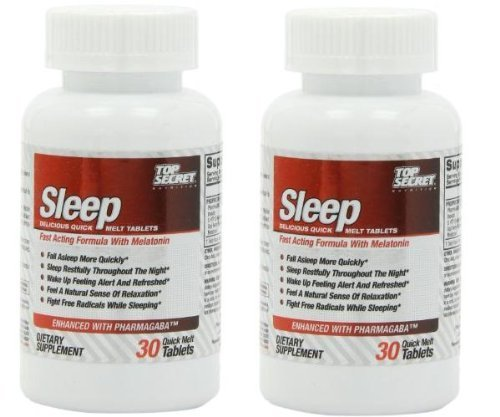 Top Secrets Health & Wellness Sleep Formula 30 Quick-Melt Tablets-Set Of 2