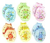 Lucky Lucky 6 Pairs Mix Colors Scratch Mittens Gloves Cotton Baby Newborn